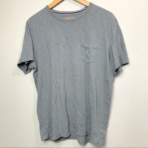 Express Grey Slub T Shirt w chest pocket